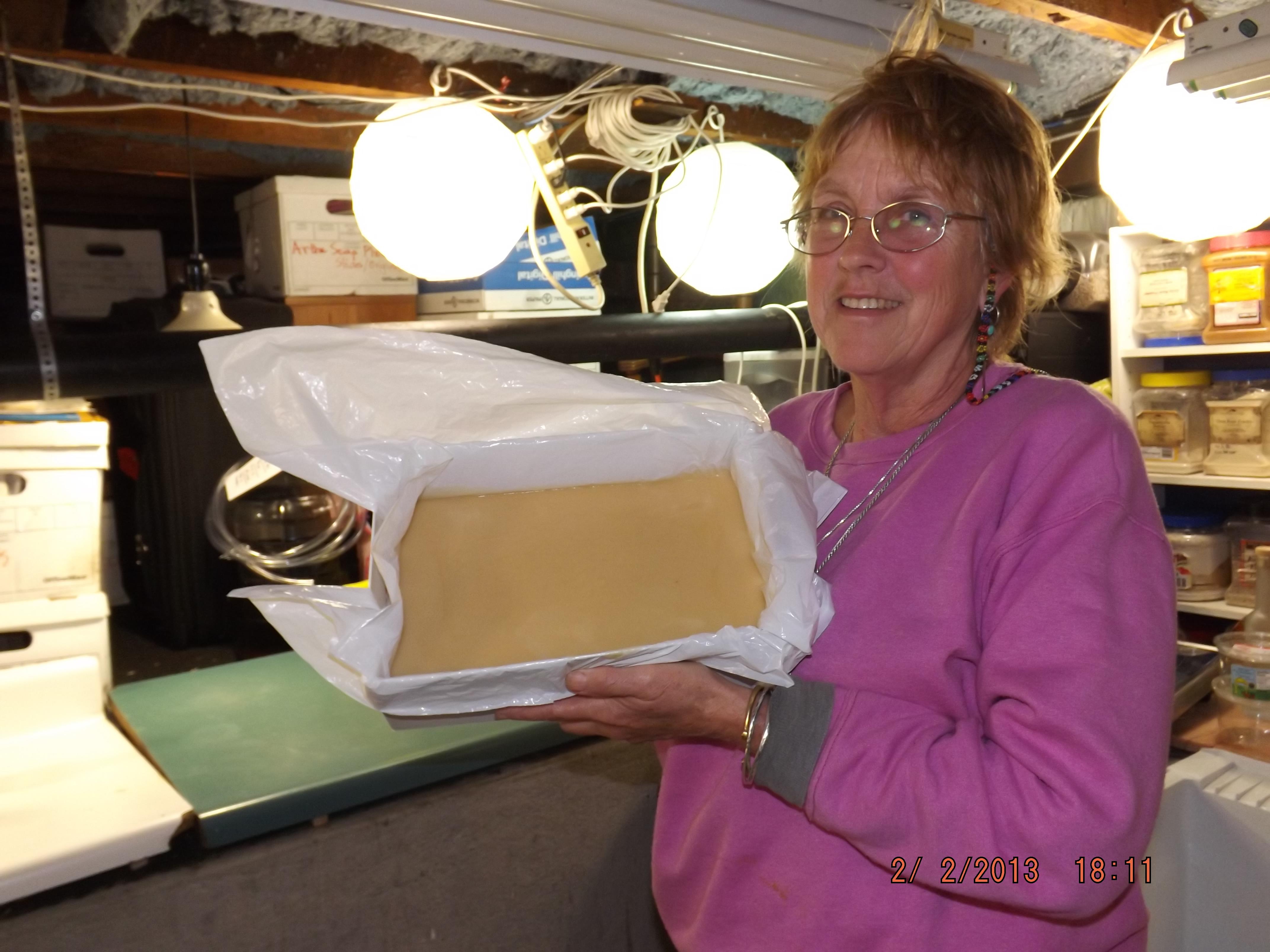 Suzanne's beautiful batch of soap. DSCF1167